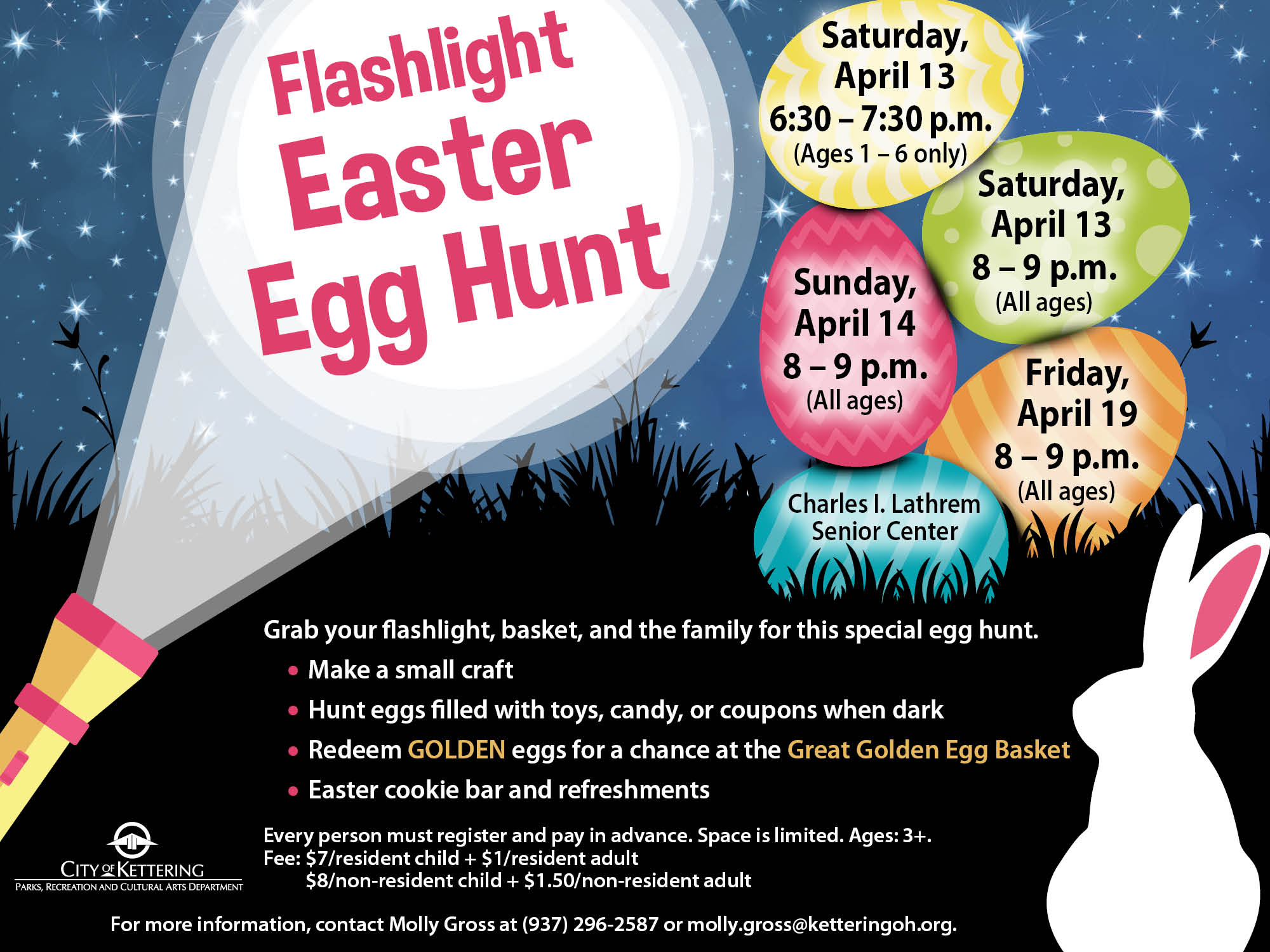 flashlight egg hunt poster
