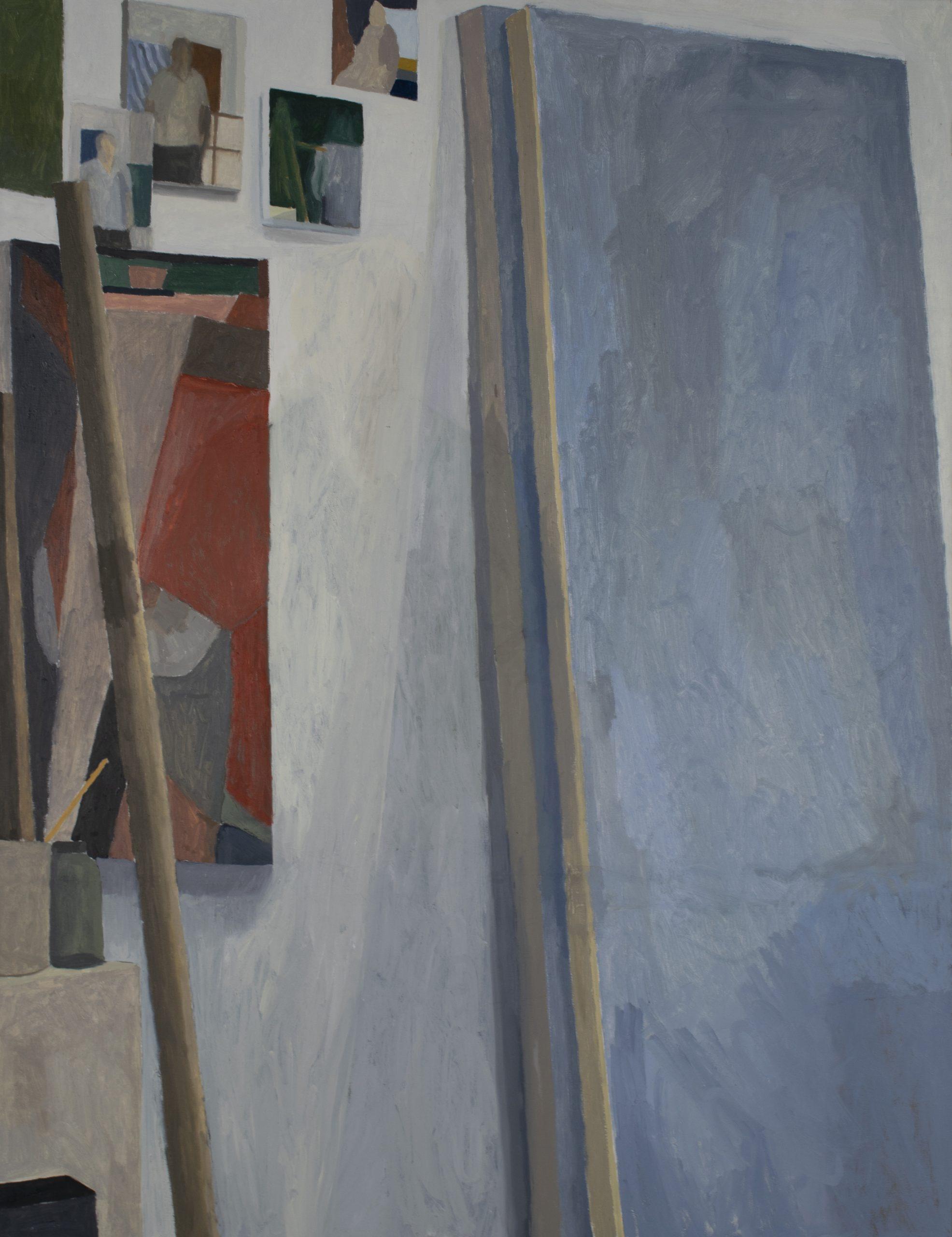 painting of art studio
