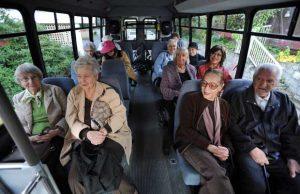 Seniors on bus