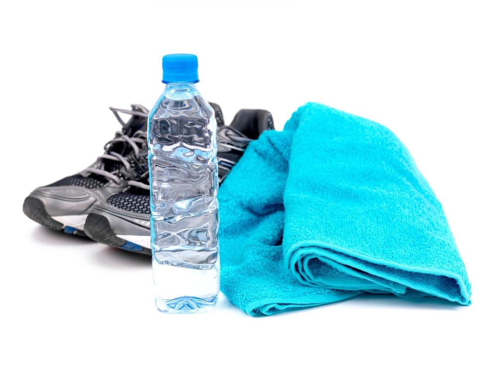 sneakers bottle towel