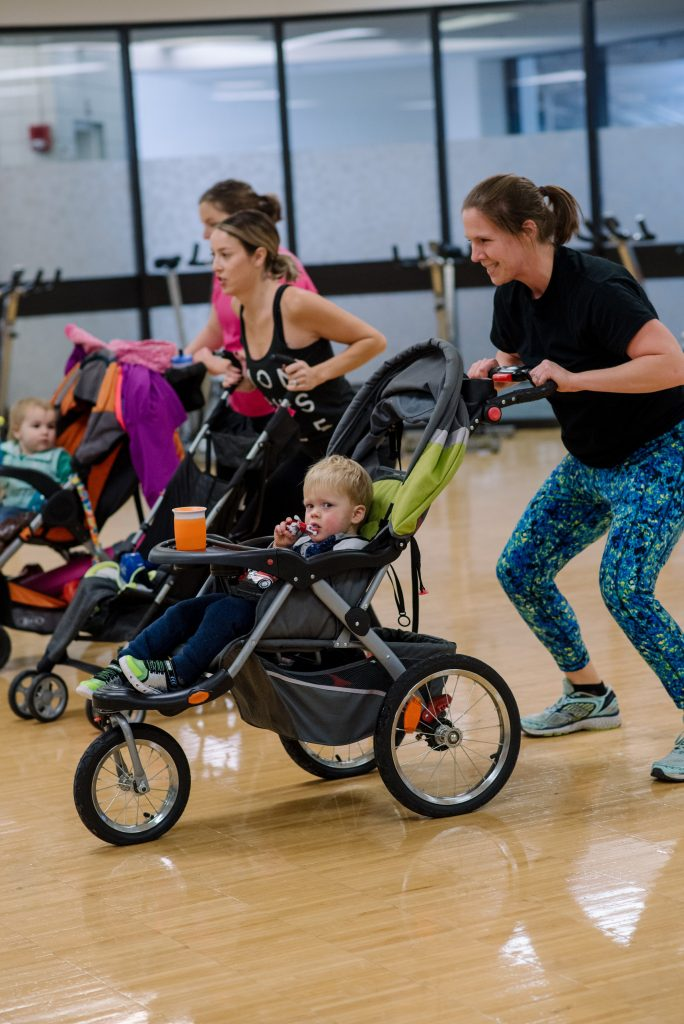 strollers in motion