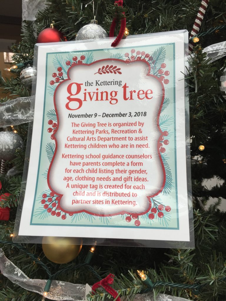 giving tree sign