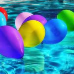 pool with balloons