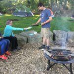 kids at campfire
