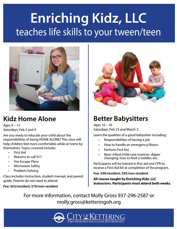 tween classes flyer