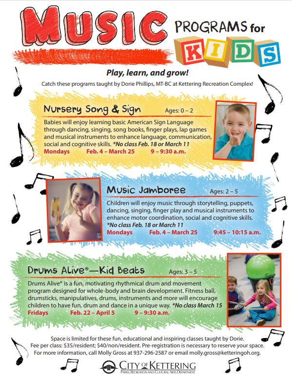 music programs flyer