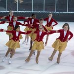 skaters in red
