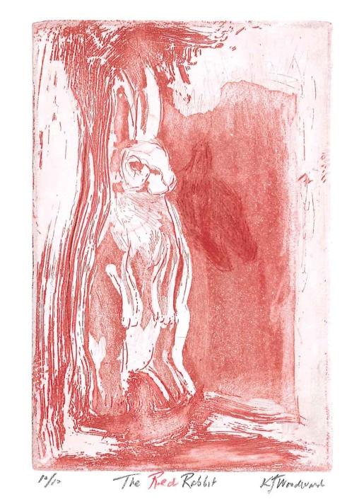 red rabbit print