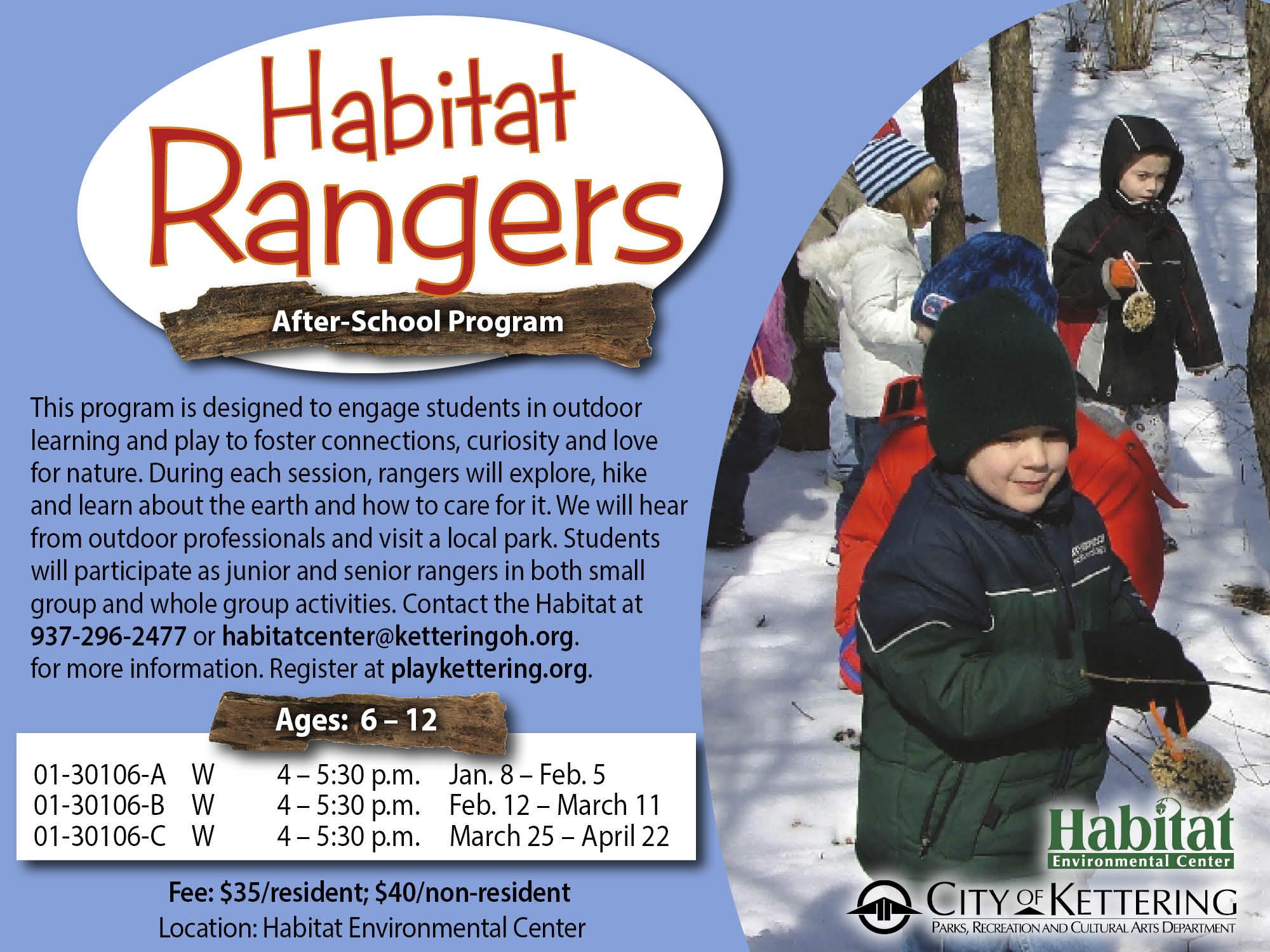 habitat rangers flyer