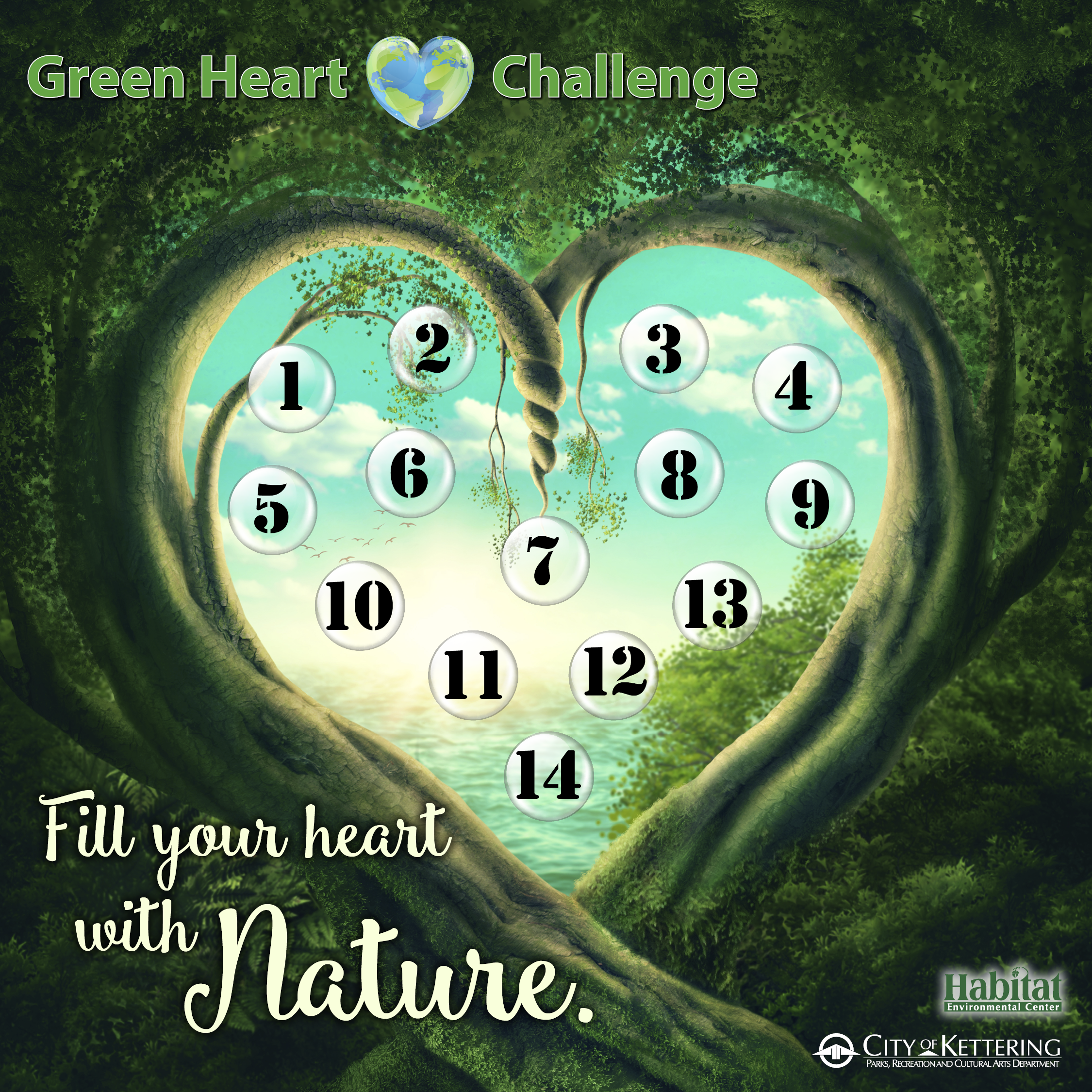 green heart graphic