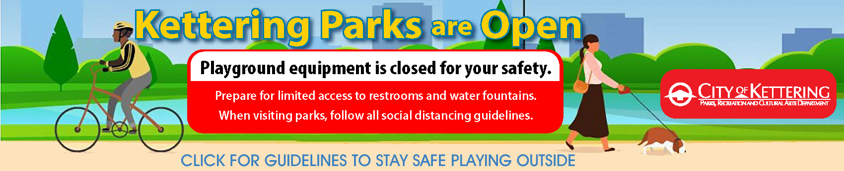 Parks are open web banner