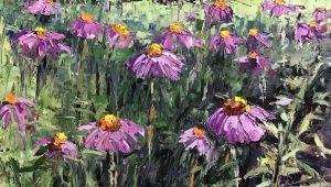 coneflower painting