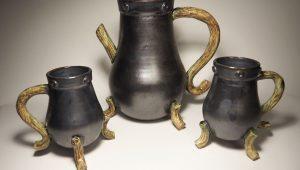 black teacups