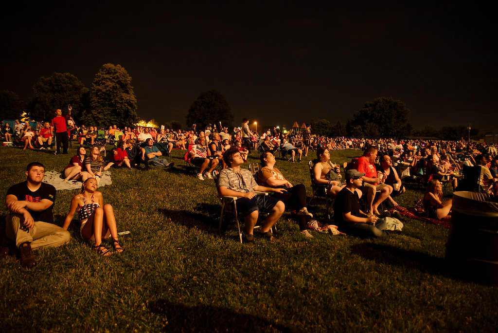 people at fireworks