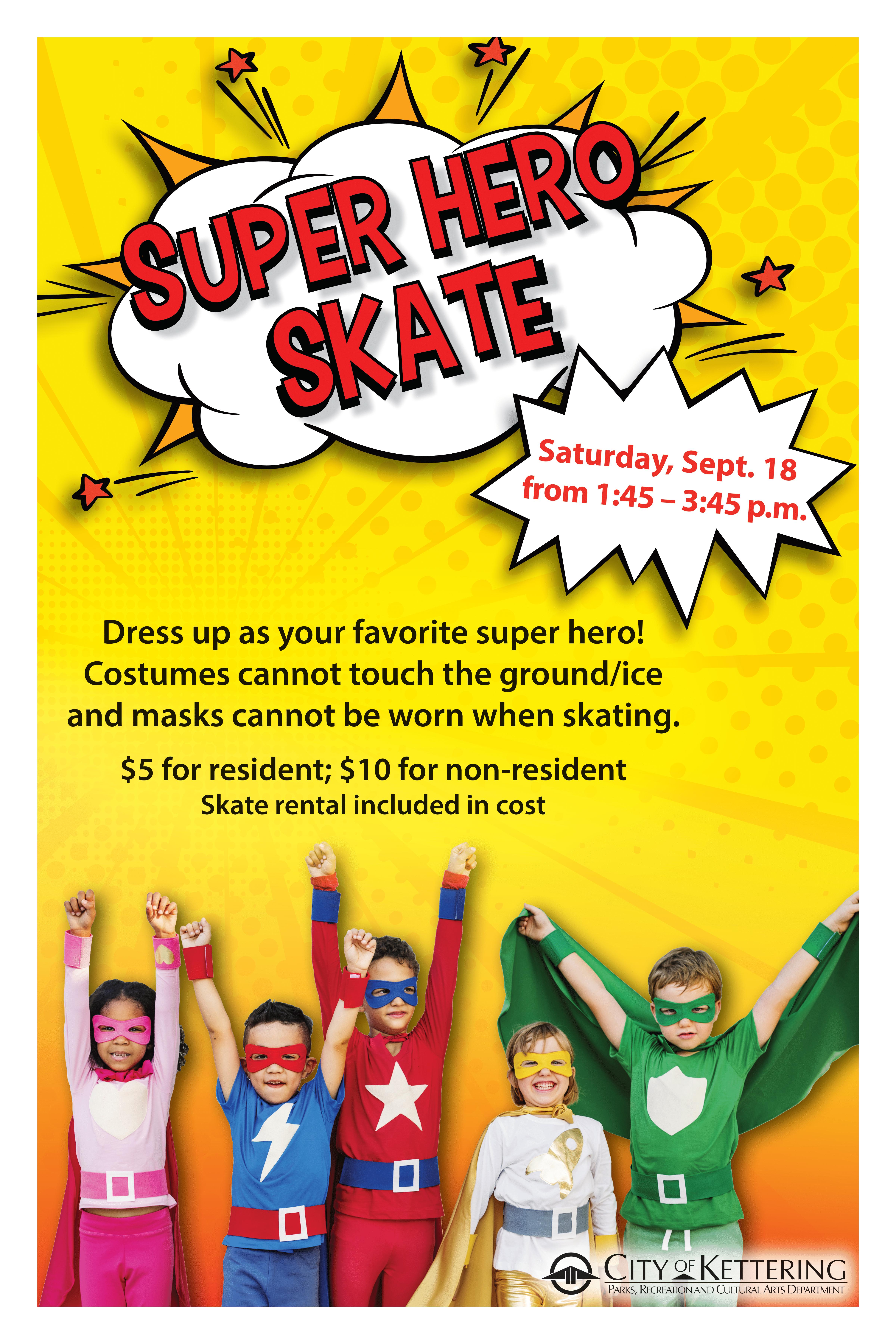 super hero skate poster
