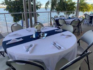 Outside Deck- Blue Wedding
