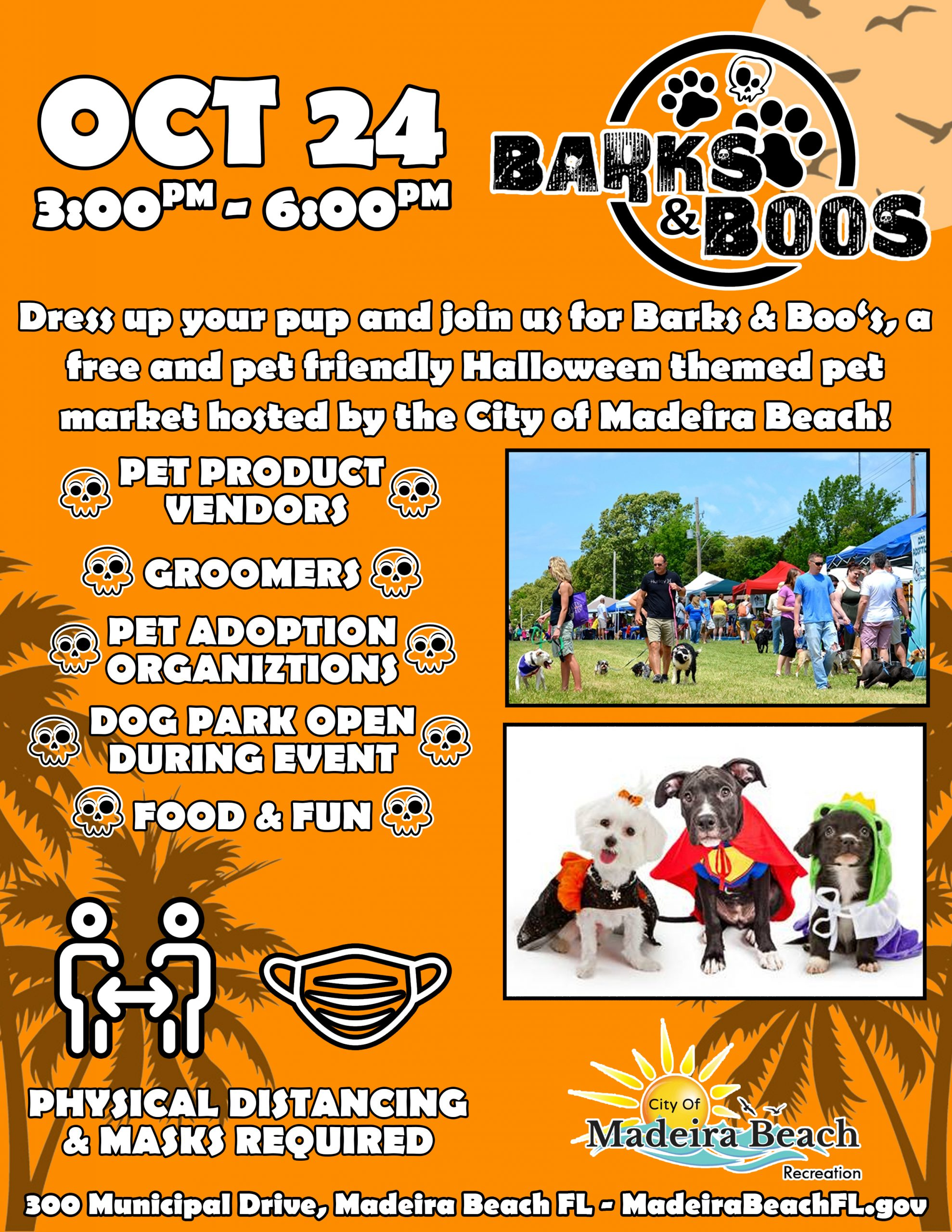 Barks and Boo's Halloween Pet Market Poster