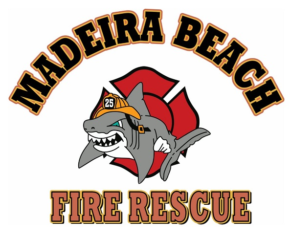 Madeira Beach Fire Rescue Logo - Shark
