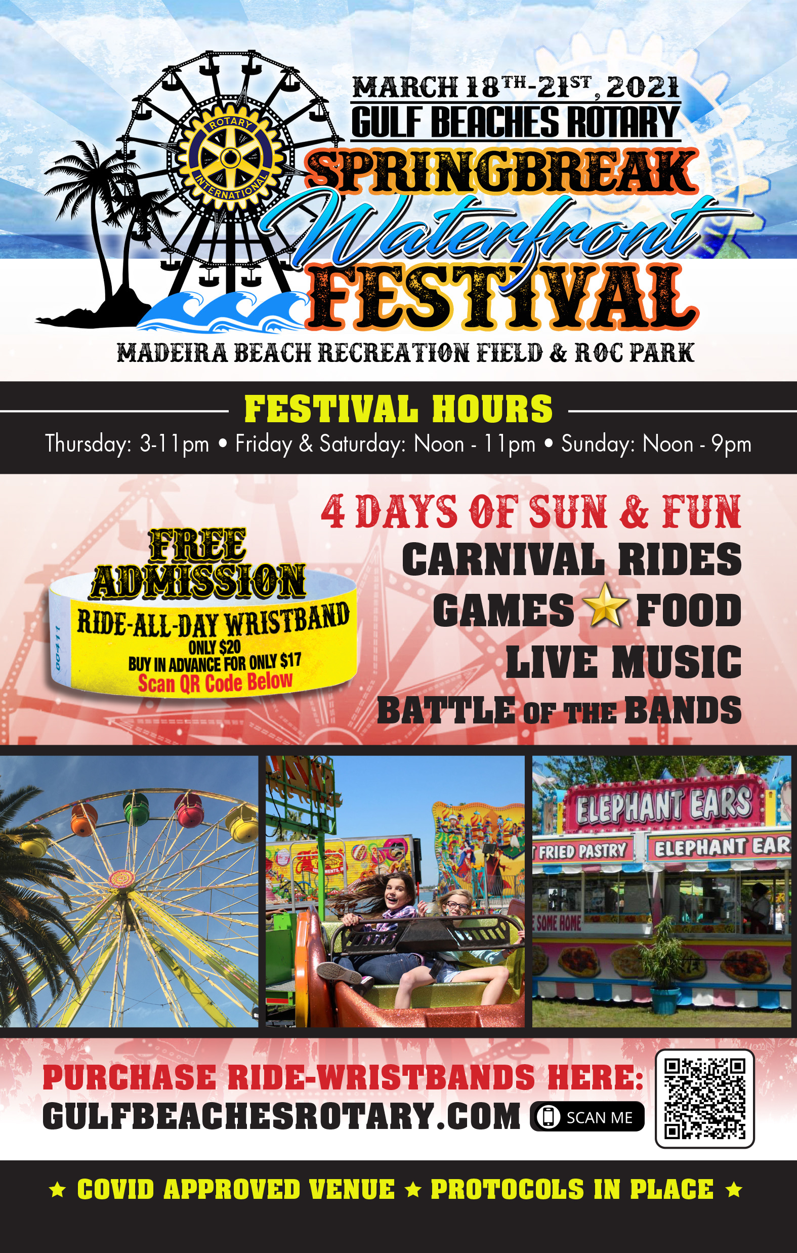 Rotary Carnival Informational Flyer Front