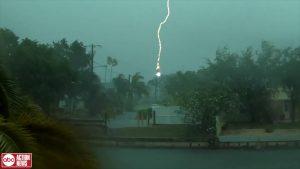 Thunderstorm on beach