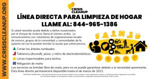 Crisis Cleanup Flyer - Spanish
