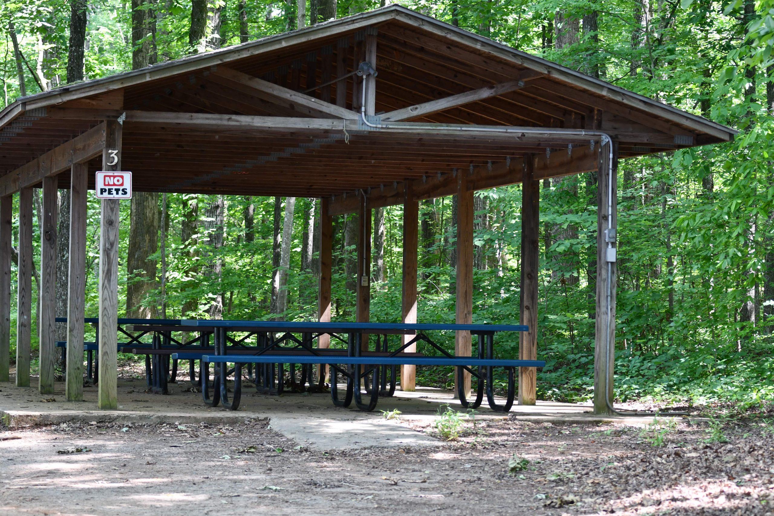 Lake Michael covered picnic area
