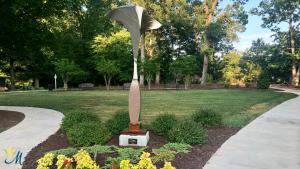 Zoom background of sculpture
