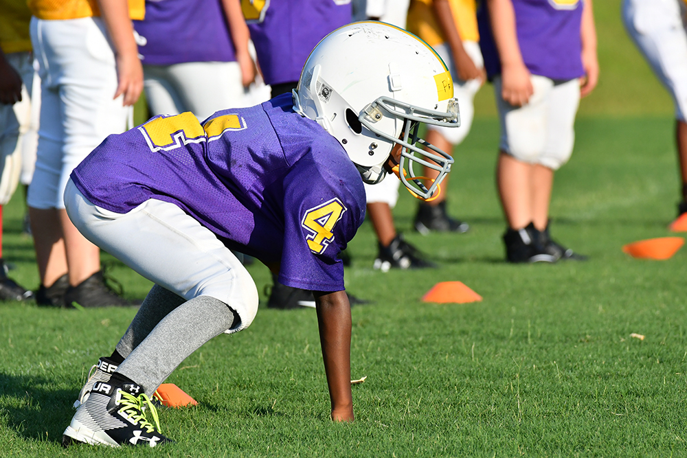 Youth Football Three Point Stance