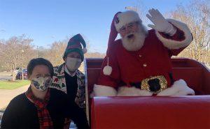 Santa arrives in Mebane