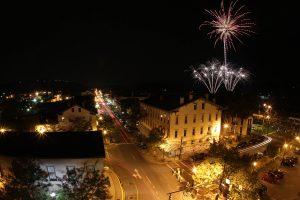 Fireworks over Market Square Building