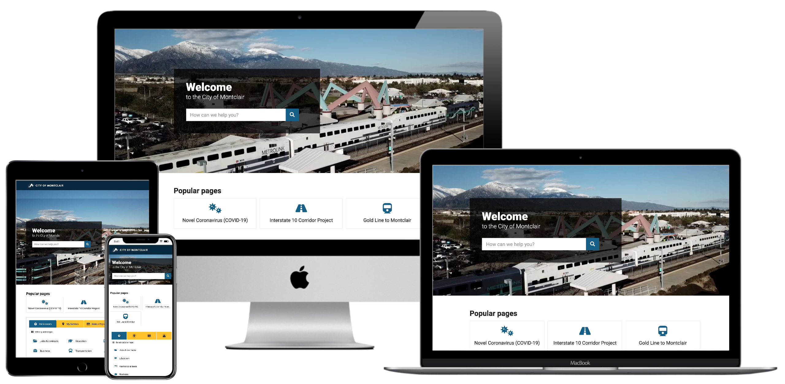 Multi device homepage screenshot