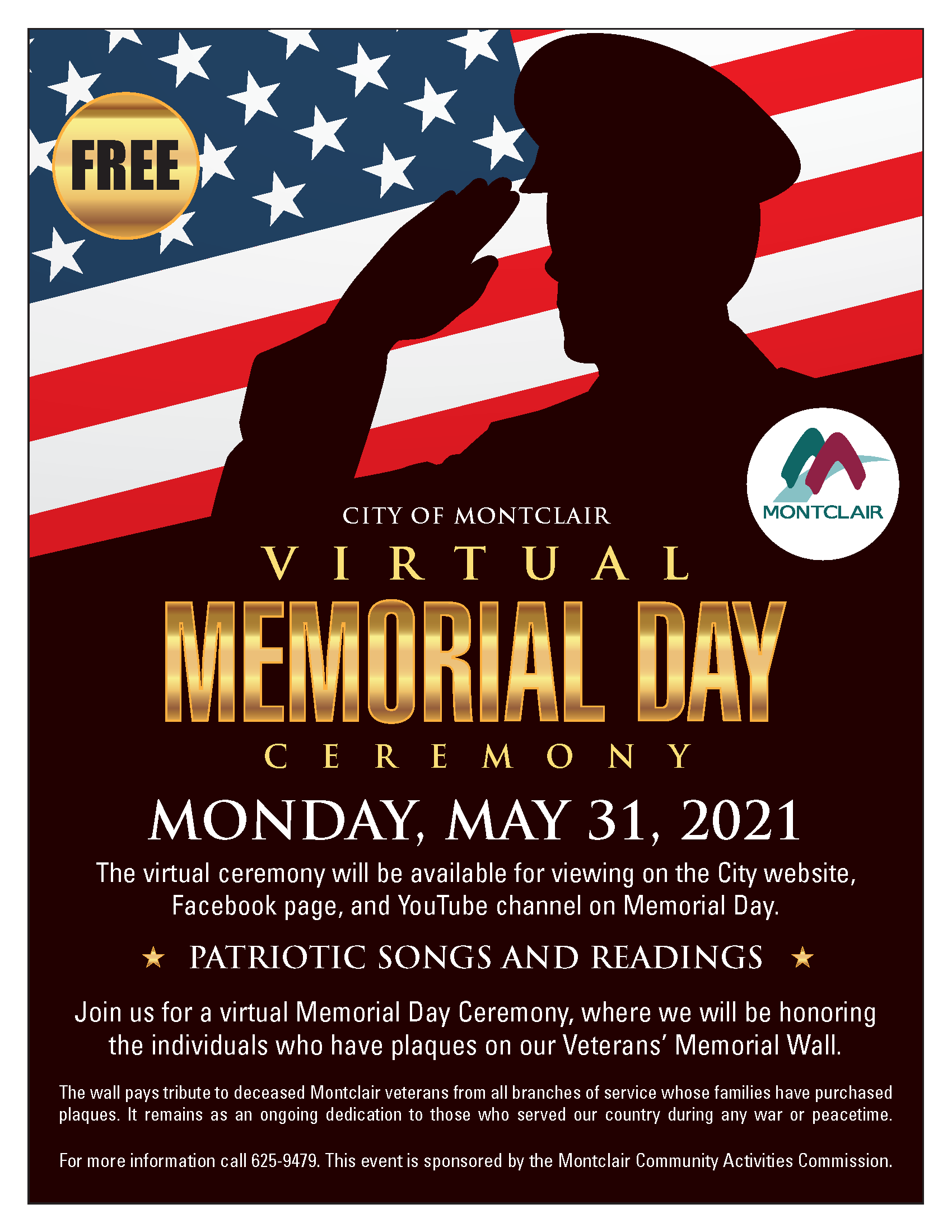 Memorial Day Program Flyer
