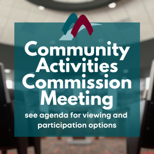 Community Activities Commission Meeting