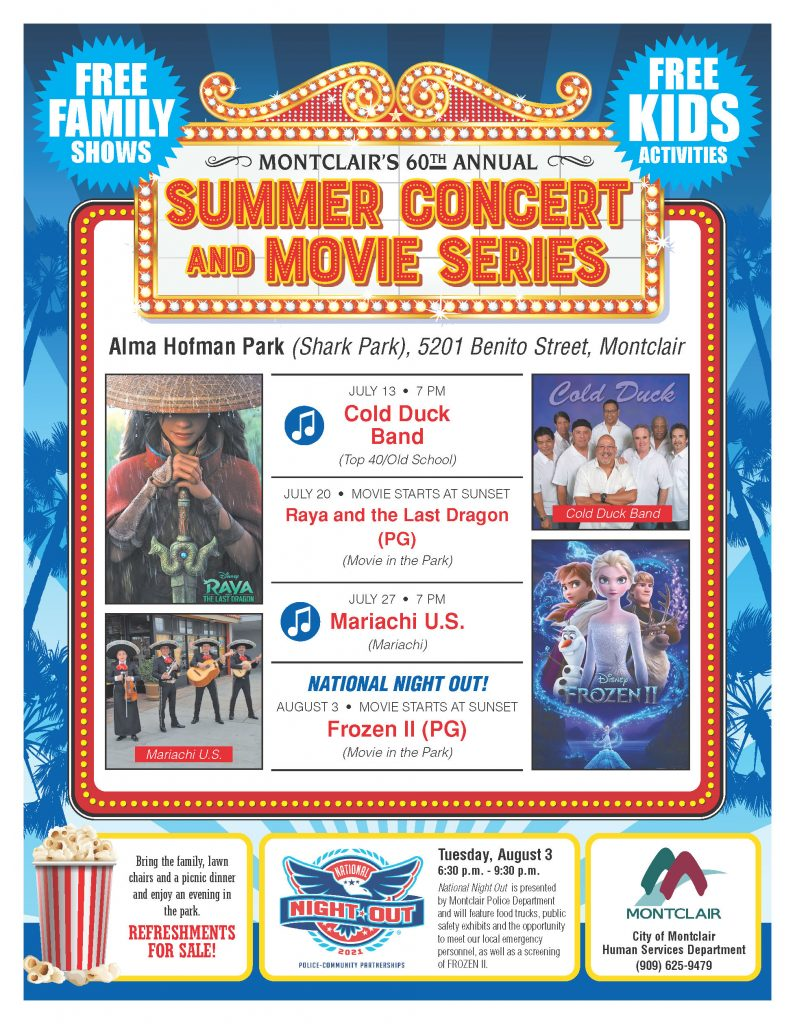2021 Summer Concerts & Movies