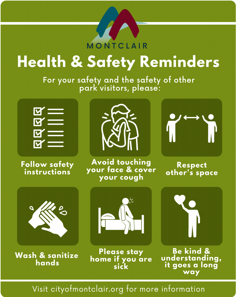 Park Safety Health Guidance Poster