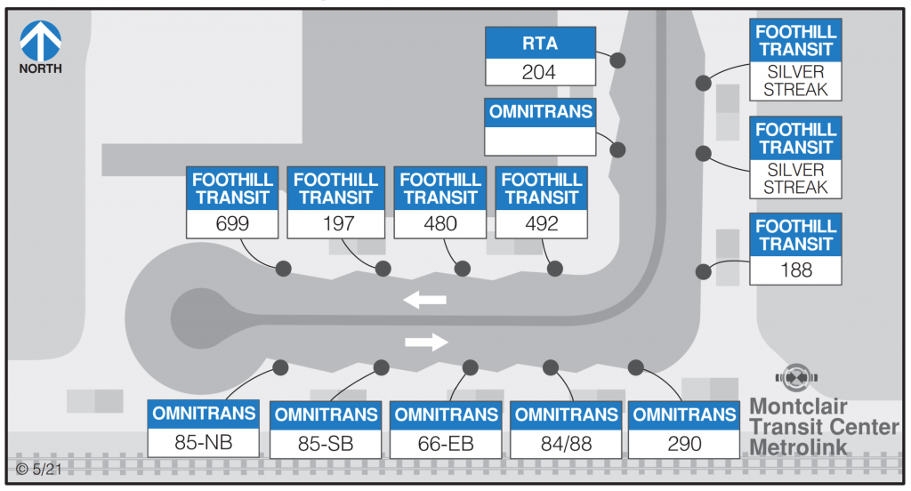 Transcenter Bus Service Map