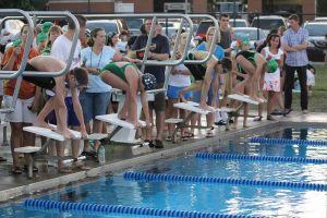 Swimmers on Blocks