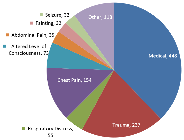 EMS Incidents for 2019
