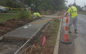 Kennedy lane sidewalk installation