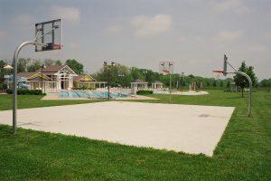 Pool basketball court