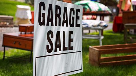 Garage sale 1920