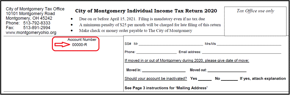 tax account number location