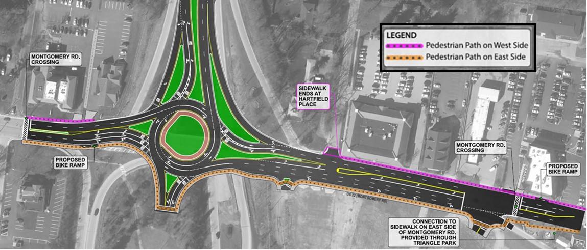 roundabout Pedestrian map