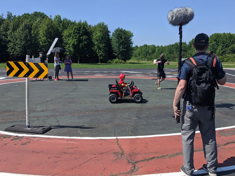 Roundabout Promo Filming - Fire Truck Filming