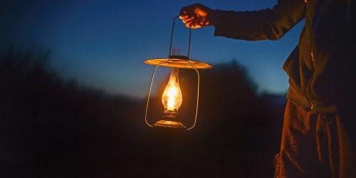 Lantern in dark