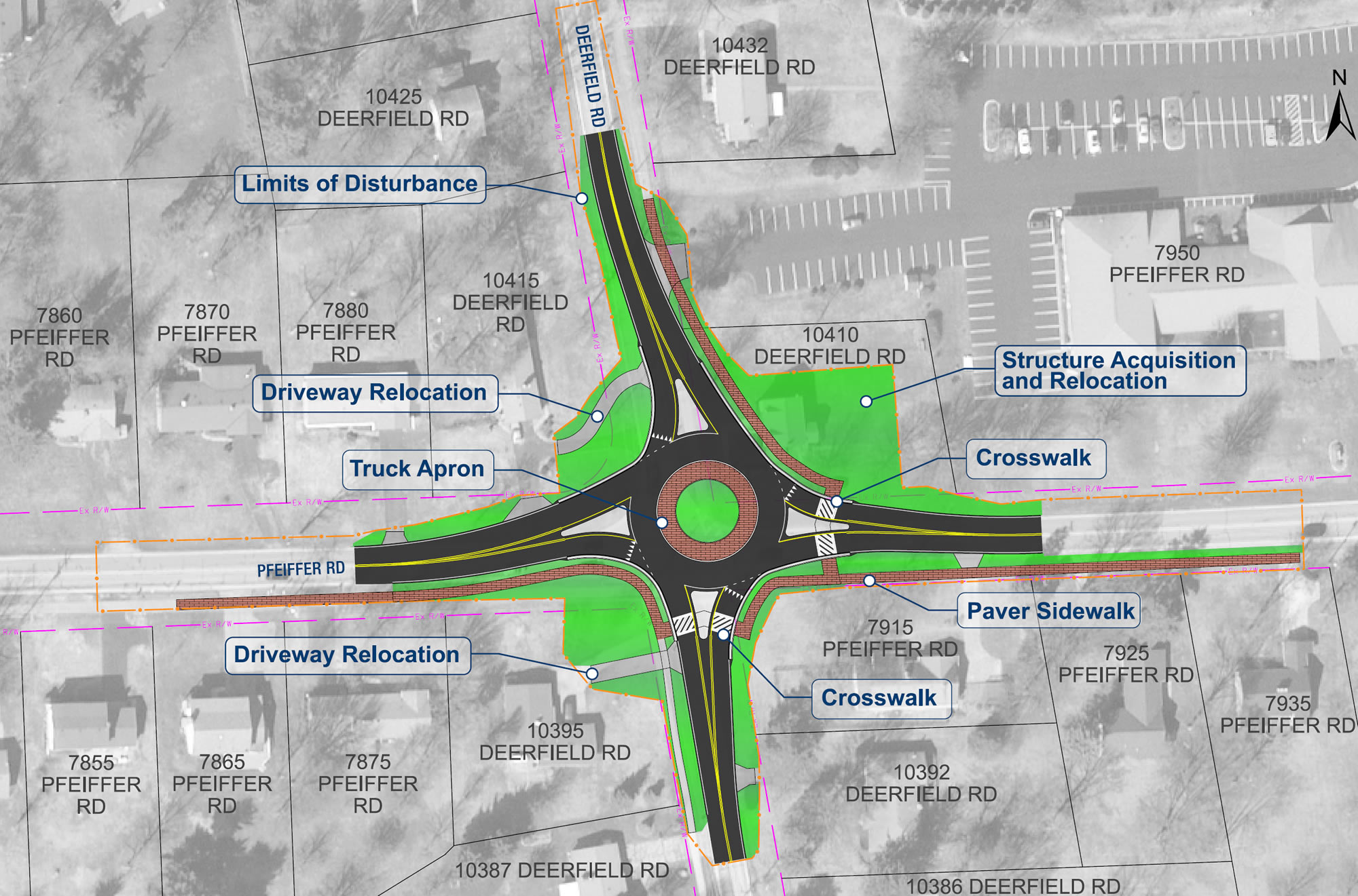 Pfeiffer Rd and Deerfield Rd. Intersection Improvements