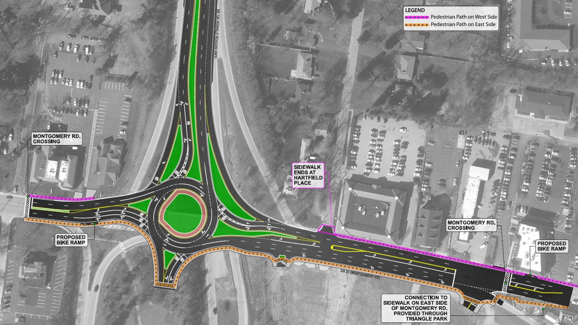 Roundabout Pedestrian Routes