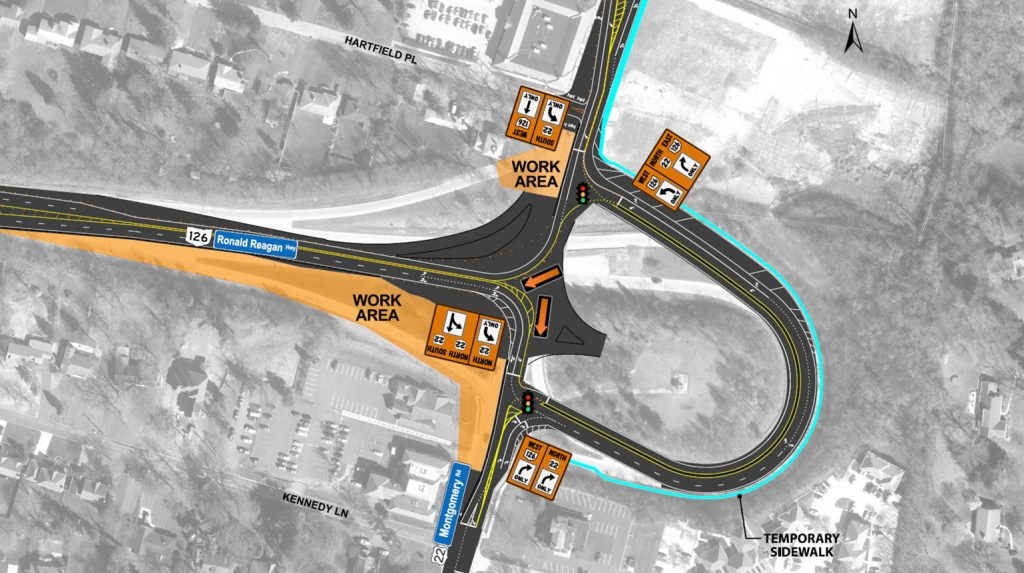 Roundabout Construction Phase 3