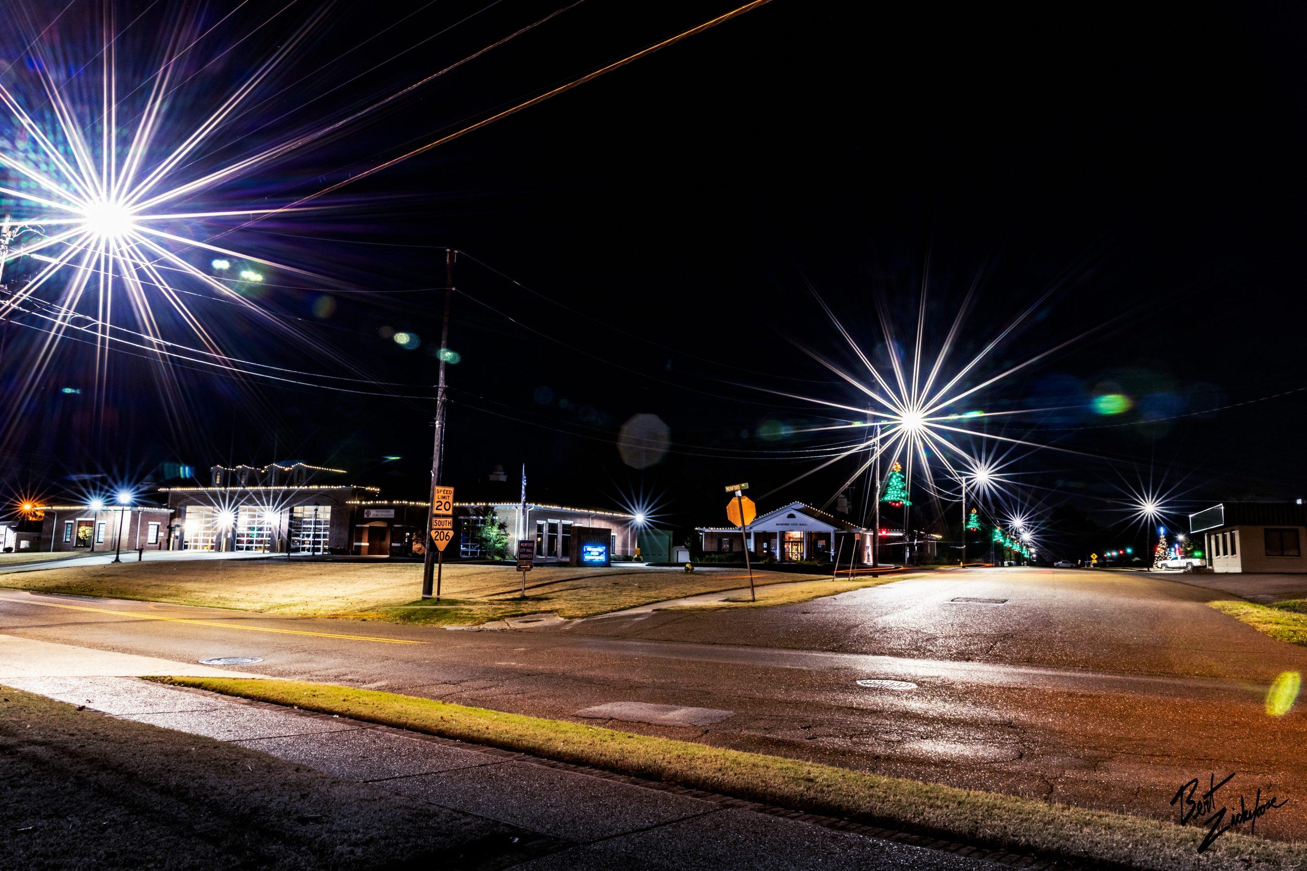 Munford at night