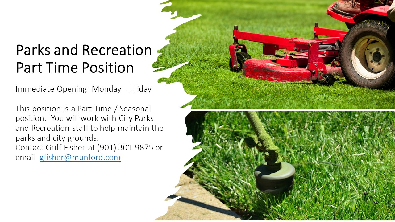 Parks and Recreation  Part Time Position